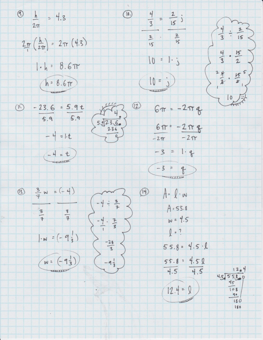 medium resolution of Yesterday's Work: Unit 2 - Balancing Linear Equations - Have a Problem? Use  Math to Solve It!