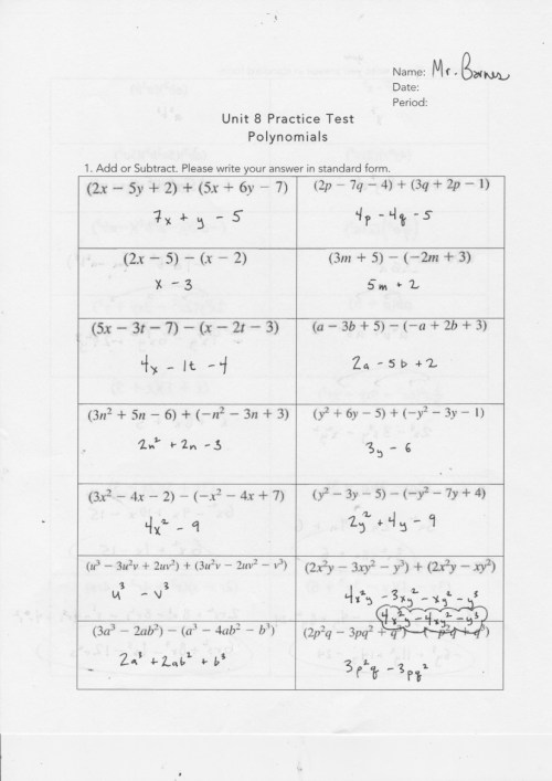 small resolution of Yesterday's Work: Units 7 \u0026 8 - Have a Problem? Use Math to Solve It!