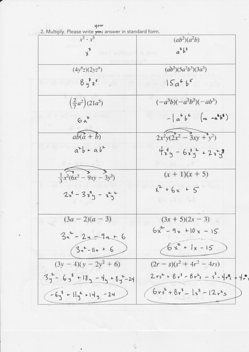 hight resolution of Yesterday's Work: Units 7 \u0026 8 - Have a Problem? Use Math to Solve It!