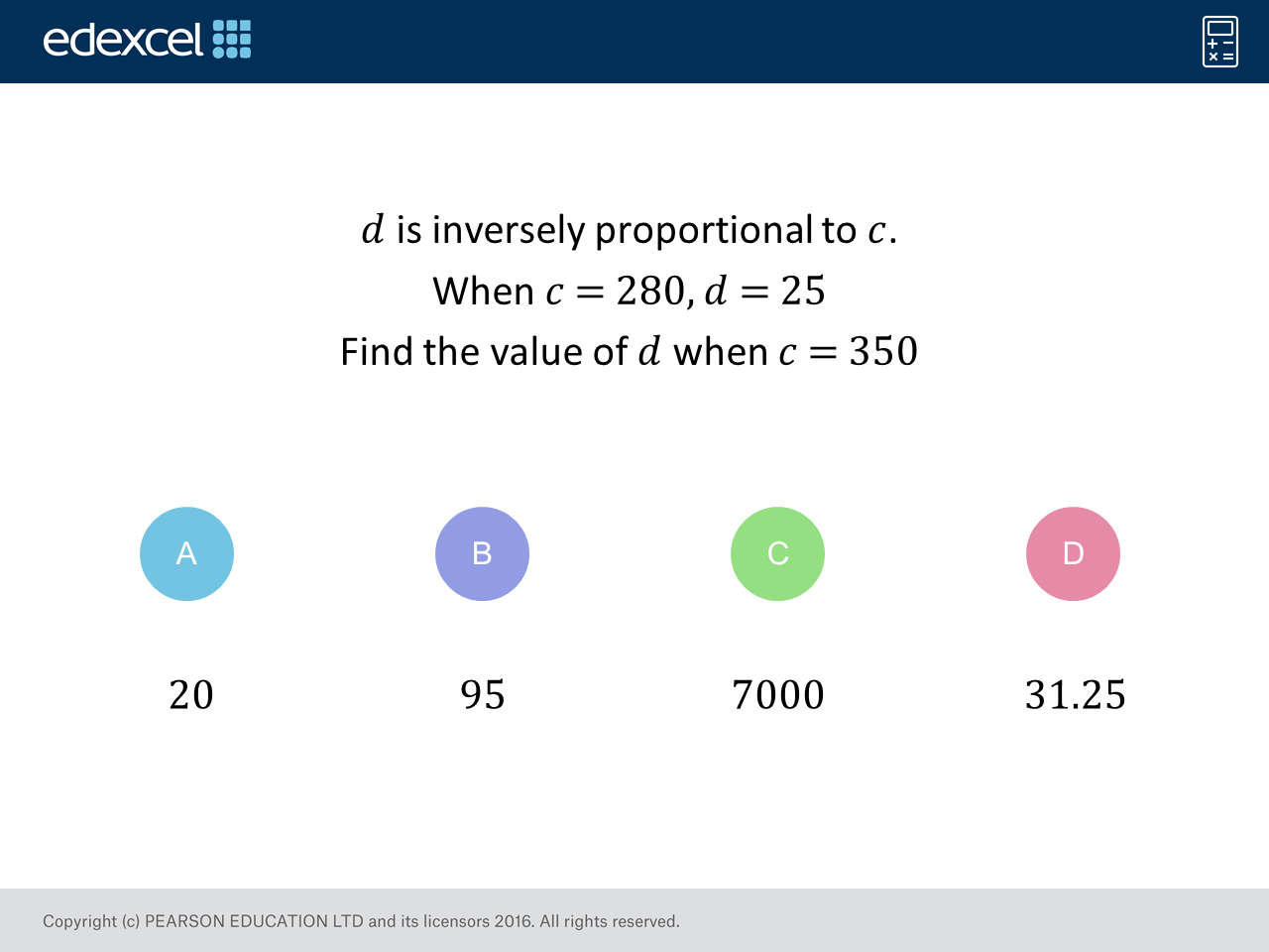 Inverse Proportion Higher Gcse Maths Question Of The