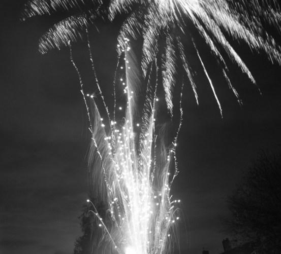 Fireworks black and white 5