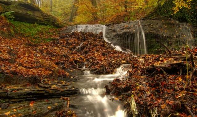 Kesterhole waterfall - shelf
