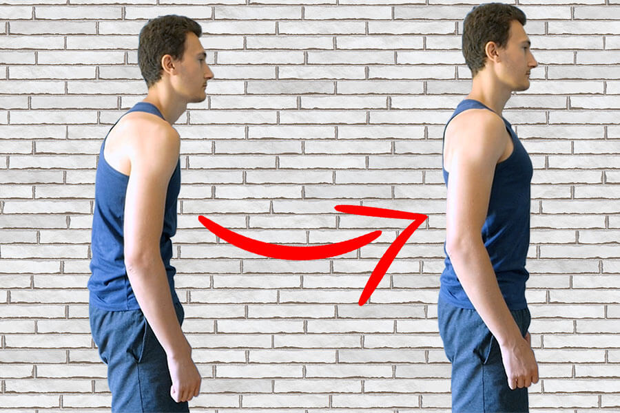 Dos courbé : exercice pour corriger le dos rond