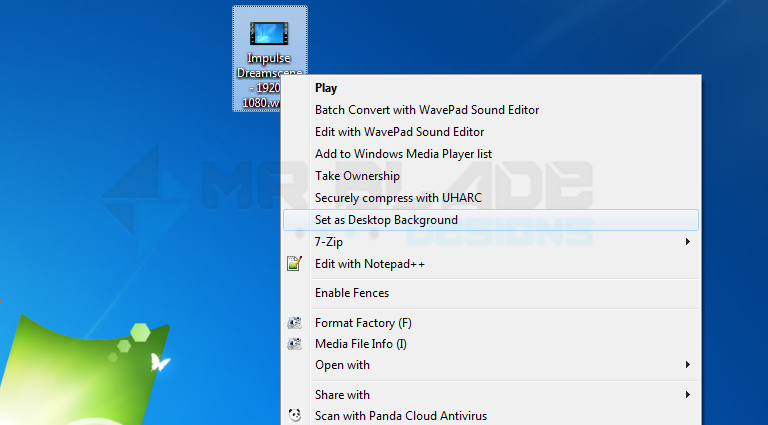Enable Video Wallpapers On Windows 7 With Dreamscene Mr