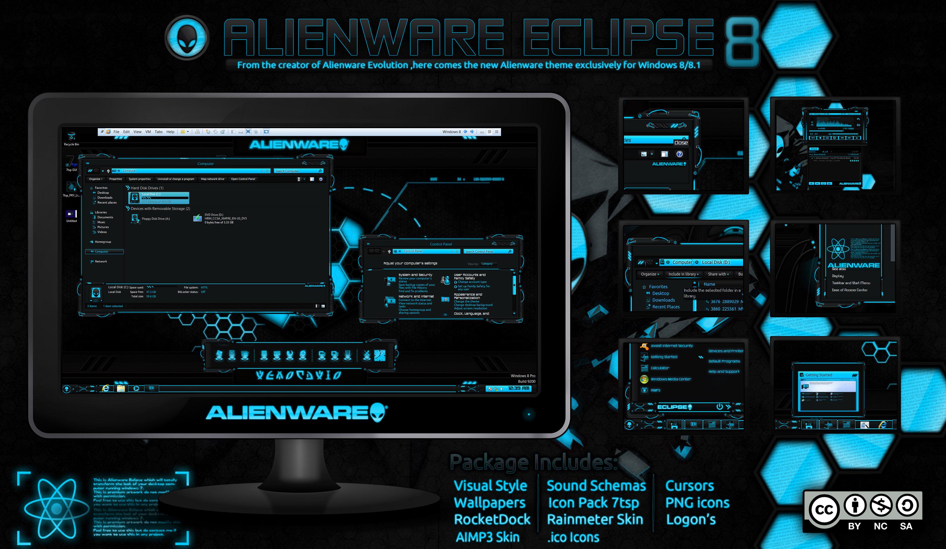 Alienware Eclipse Blue Windows 8 8 1 Mr Blade Designs