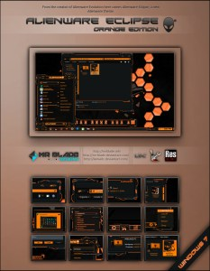 Alienware Eclipse Orange Edition for Windows 7