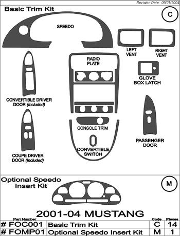2000 Mustang Gt Parts : mustang, parts, 2001-2004, Mustang, Interior, Optional, Speedo, [0104-INT-SD-15PC-KIT], 9.99, MrBodykit.com,, Diverse, Bodykits, Aftermarket, Parts, Planet