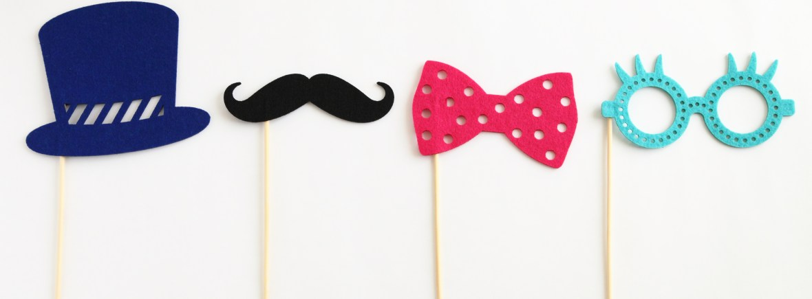 Photo booth props for party