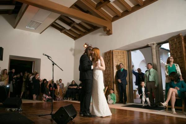 Dance floor inside the mansion, Photo courtesy of Burlap & Rose Events
