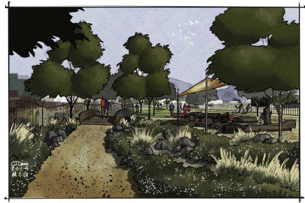 El Dorado Park near play area- concept by MIG