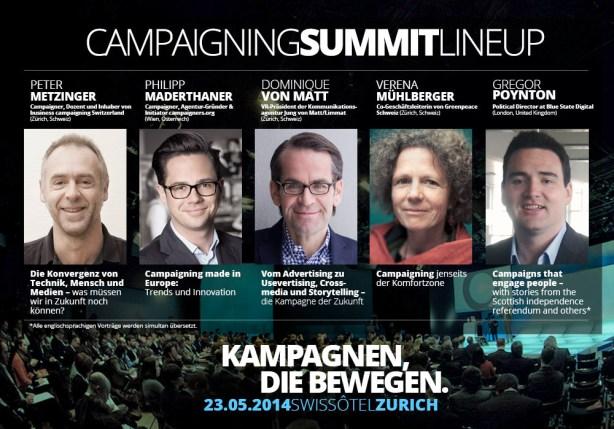 Campaigning Summit Zurich 2014 Lineup 1000x700