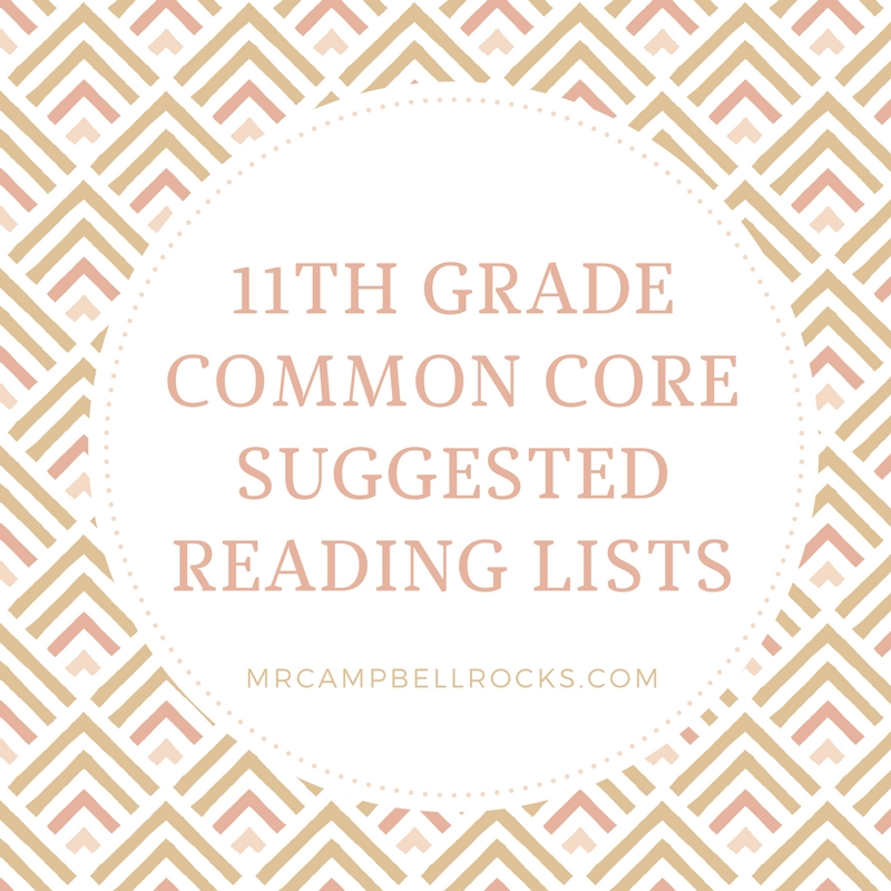11th Grade Common Core Suggested Reading Lists