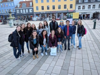 The CCHS group in Roskilde square