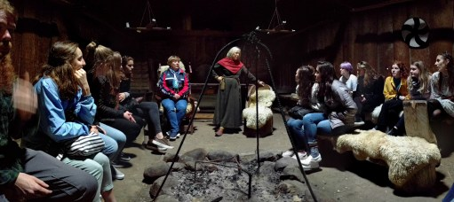Learning history inside the Viking house