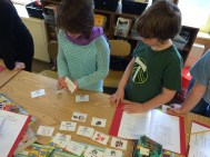 A sorting game during Reed College Science on Wednesday.