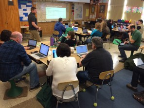 Room 24 was used by teachers from all over the sate at Saturday's Camp Chromebook at Lewis.
