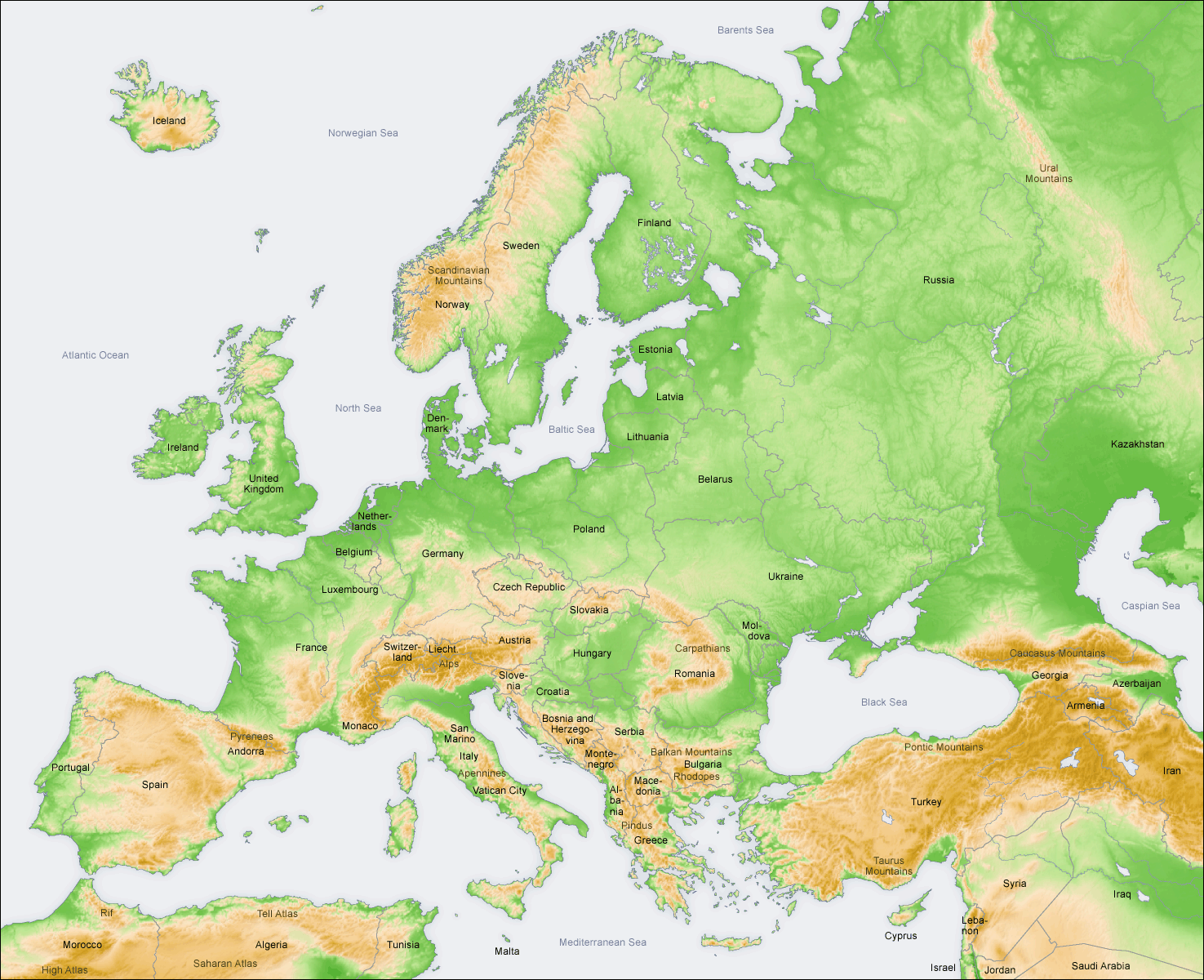 Image of: Europe World Regional Geography