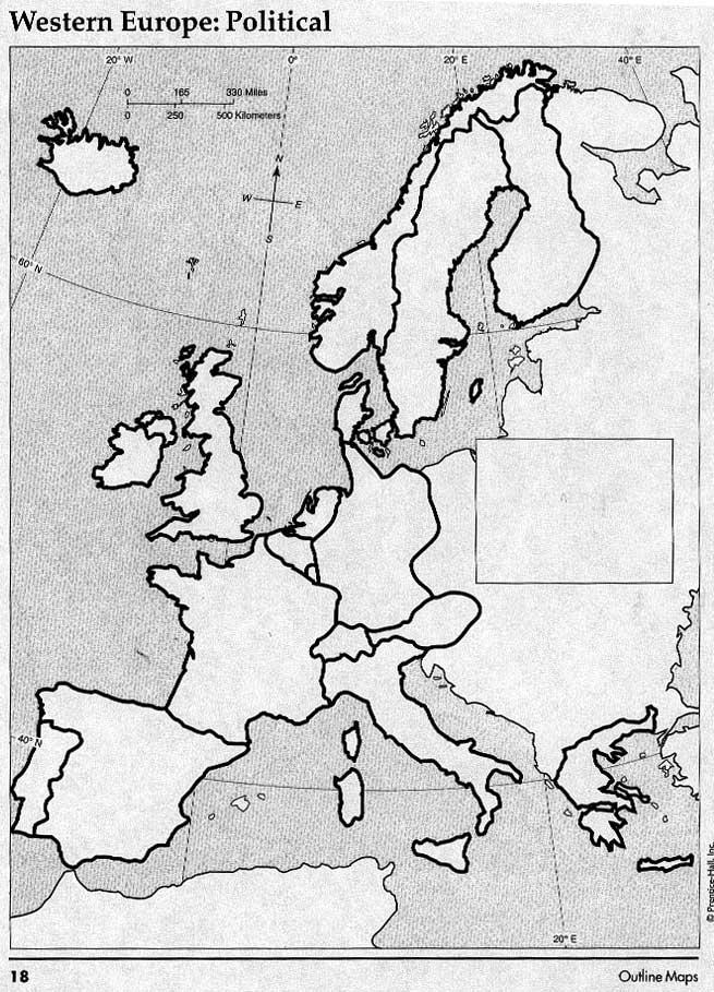 Blank Map Of Western Europe Quiz - Resume Examples | Resume