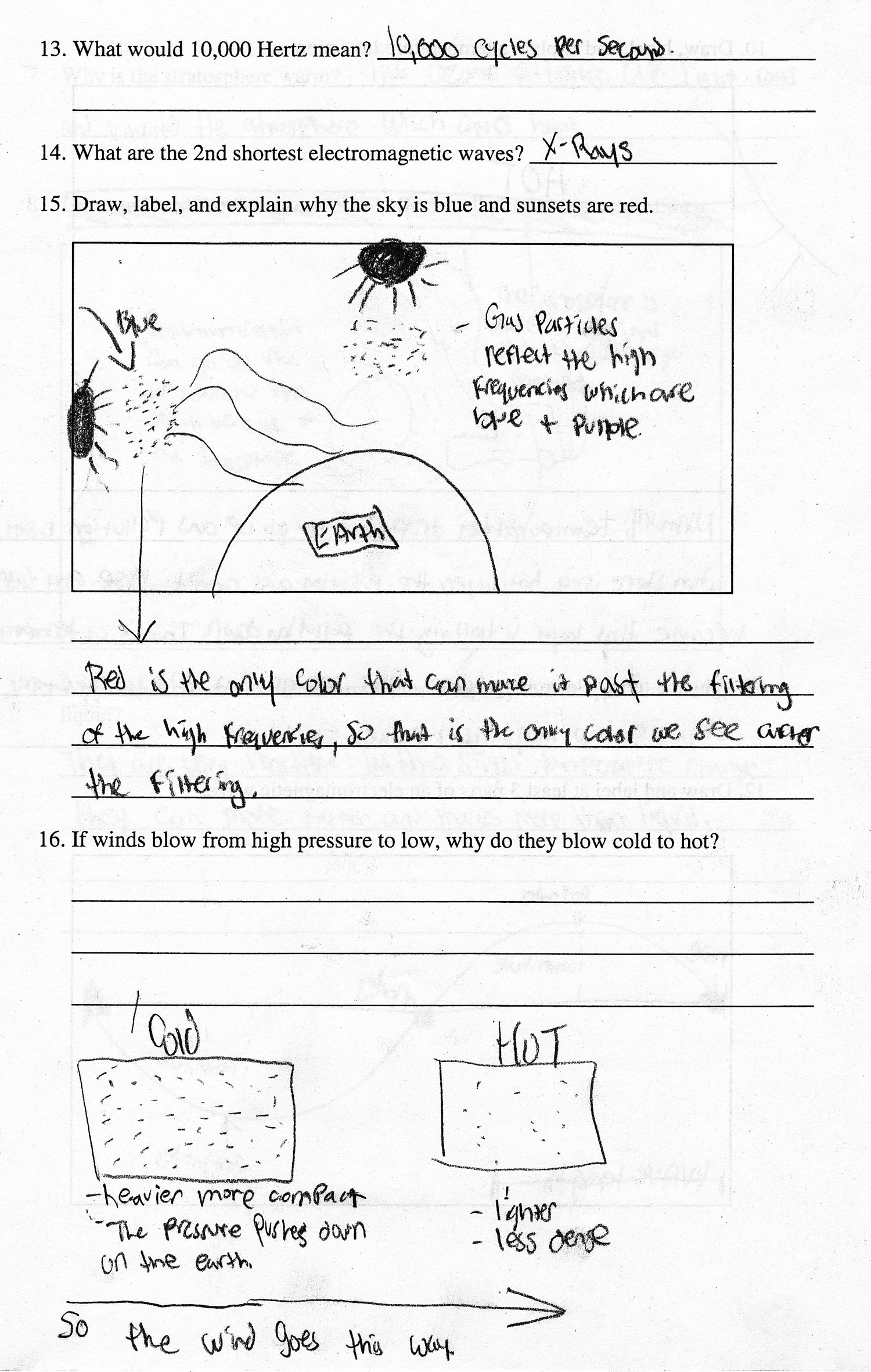 Grade 8 Earth Science Test Questions