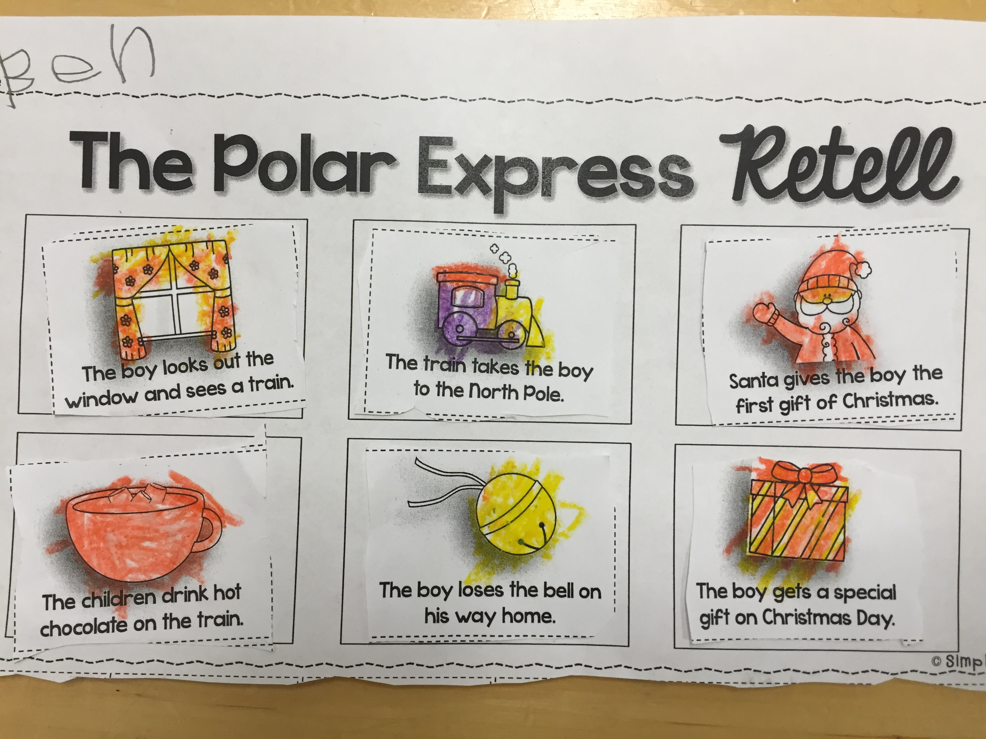 Polar Express And Train Glyphs