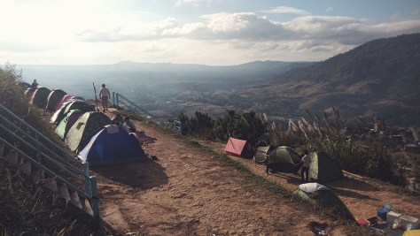 Sleeping on cloud nine in the mountains of Phetchabun, Thailand