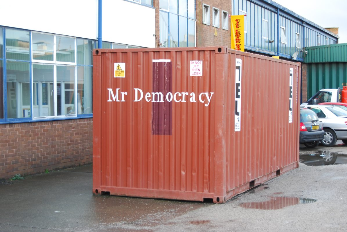 Mr Democracy container1