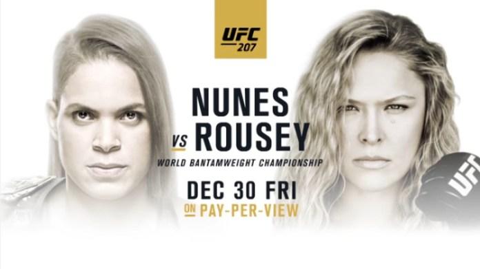 UFC 207 Amanda Nunes vs Ronda Rousey