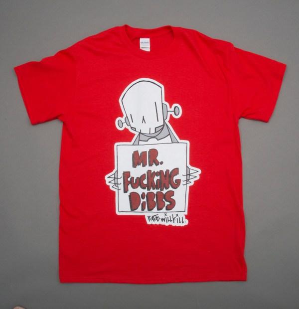 Robots Will Kill / Mr. Dibbs Collab Shirt in Red