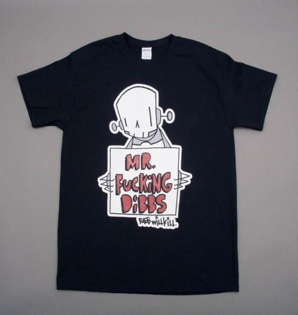 Robots Will Kill / Mr. Dibbs Collab Shirt in Black