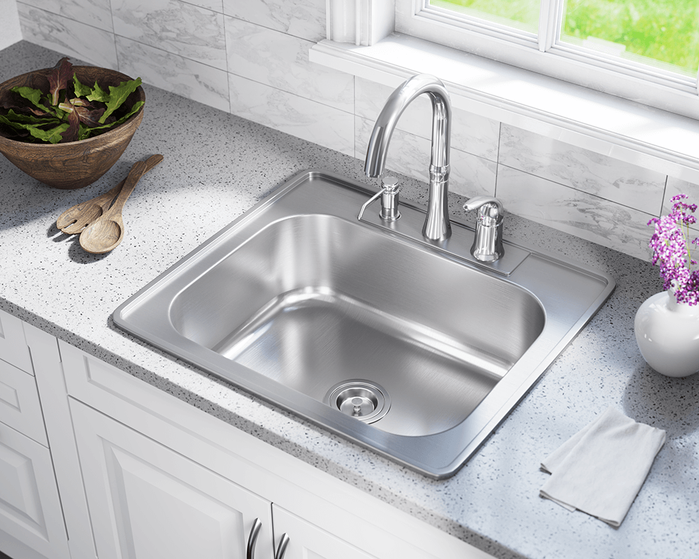 US1038T Single Bowl Topmount Stainless Steel Sink