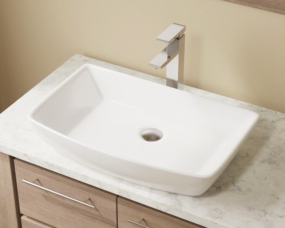 V350white Porcelain Vessel Sink