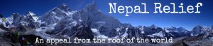 Nepal Relief - an appeal from the roof of the world