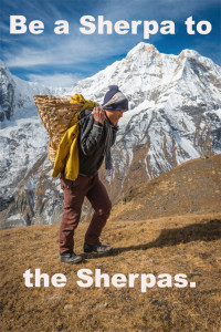 Be a Sherpa