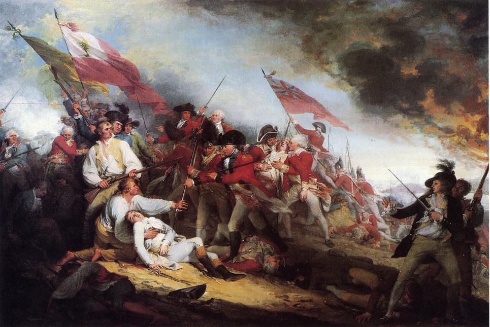 Battle of Bunker Hill, by John Trumbull.  Yale University Art Gallery