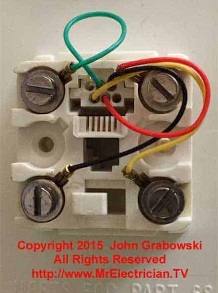 Telephone Jack Wiring Color Code : telephone, wiring, color, Telephone, Color