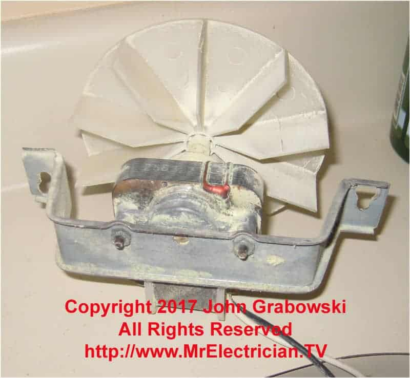 bathroom fan motor replacement
