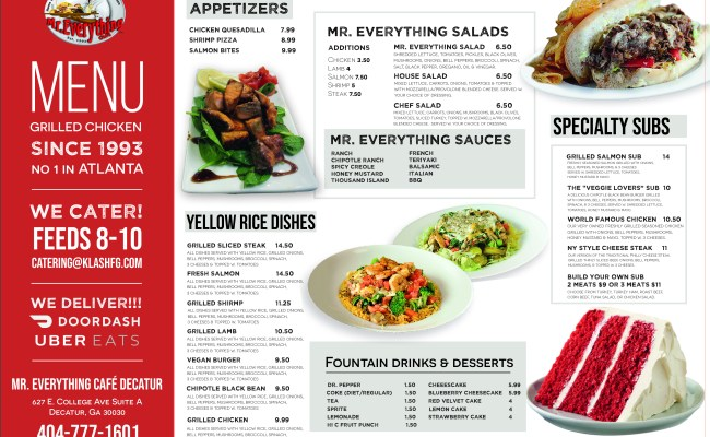 Mr Everything In House Menu Mr Everything Decatur