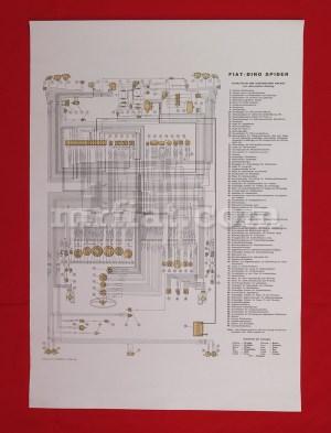 Fiat Dino 2000 Spider Wiring Diagram 59x84 cm New | eBay