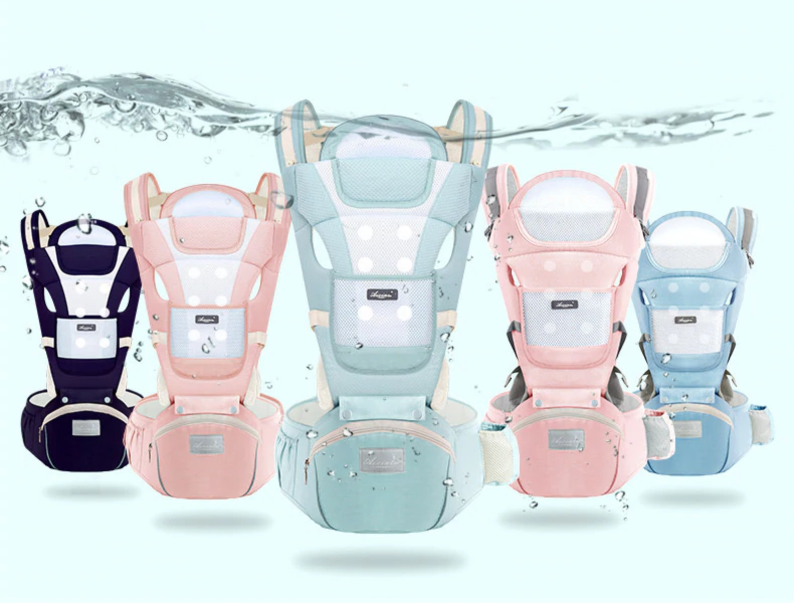 We'd never want you to associate this 6-in-1 baby carrier with hipseat with something terrible like infantile asphyxiation.