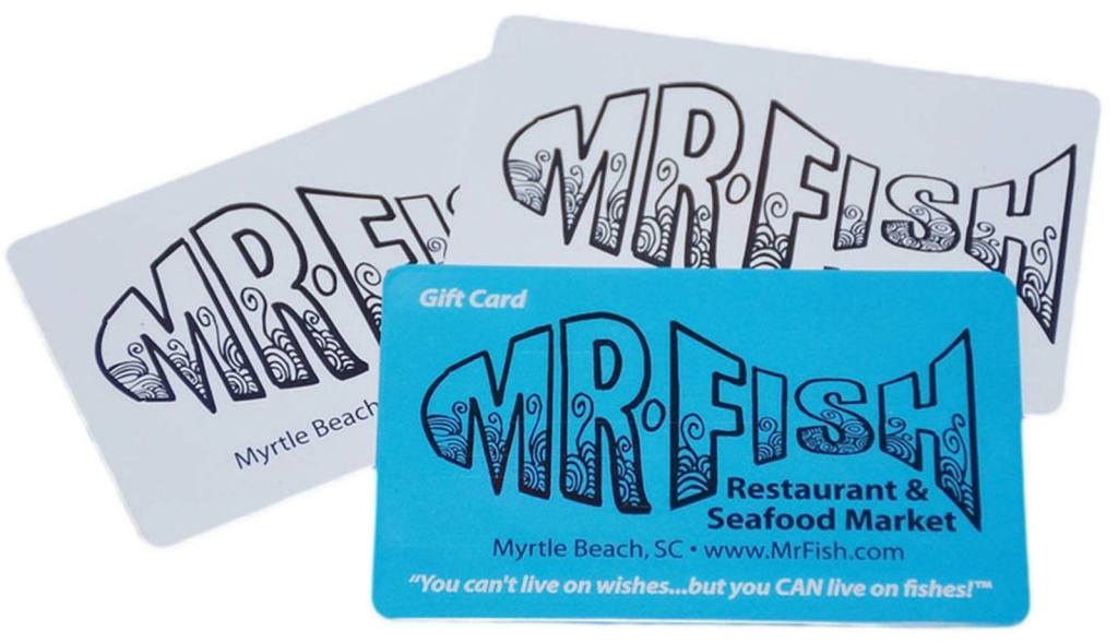 2018 Mr. Fish Gift Card Offer in Myrtle Beach
