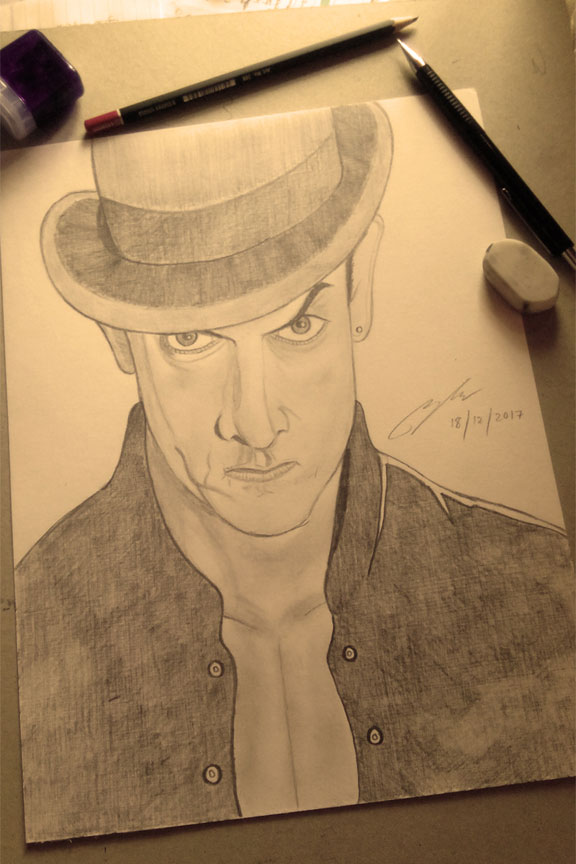 Aamir Khan Pencil Sketch by Shah Ibrahim