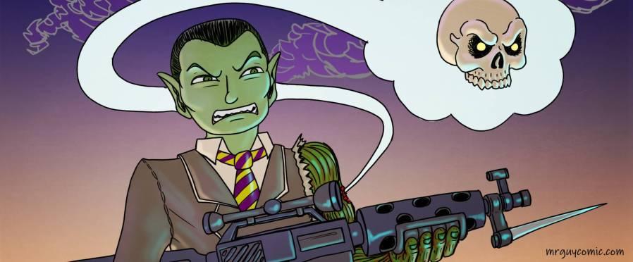 mr. guy zombie hunter arc 1 stupid vermin jayel draco