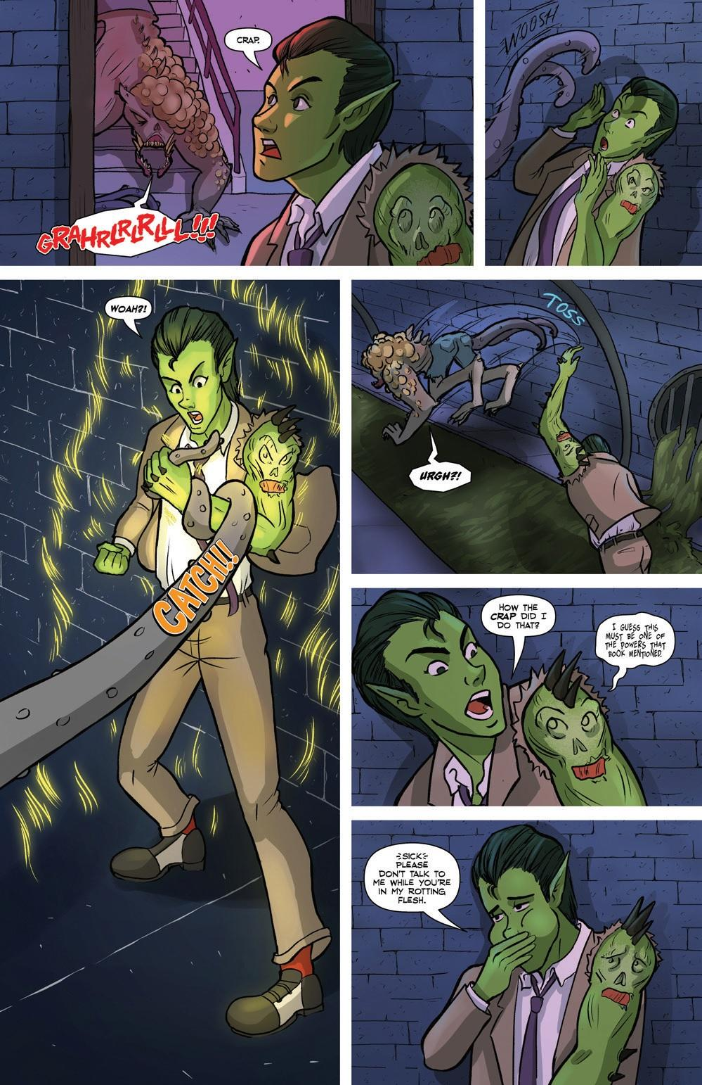 full page of mr. guy zombie hunter by jacey chase