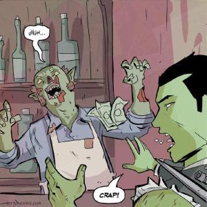 crap walter ostlie mr. guy zombie hunter bartender