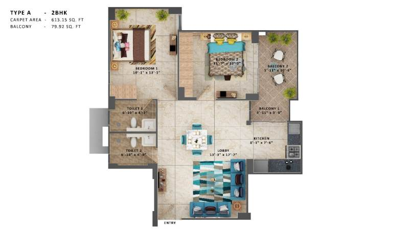 MRG Ultimus 2 BHK Type A Sector 90 Gurgaon