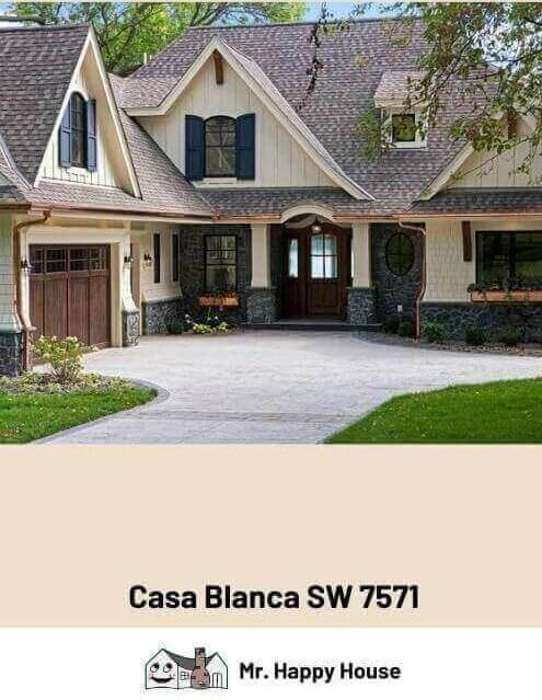 Sw Casa Blanca : blanca, Blanca, Sherwin, Williams, Happy, House
