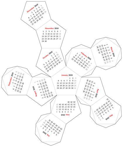 Dodecahedron Calendar « Mr Honner