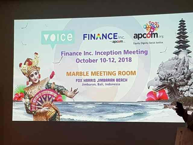 Micro Rainbow Cambodia participates in a regional inception meeting in Bali