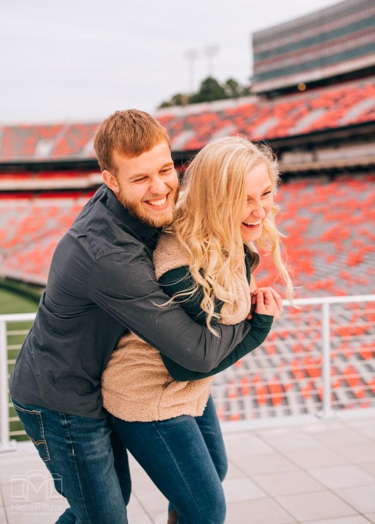 Erin & Sam - UGA engagement photos