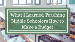 Teaching kids how to make a budget